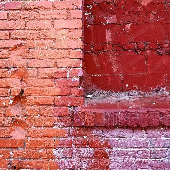 Painted brick wall photo