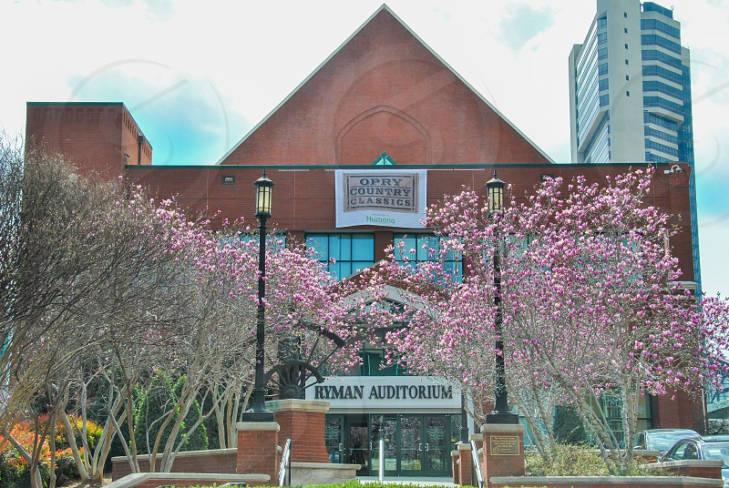Ryman Auditorium (formerly Grand Ole Opry House and Union Gospel Tabernacle) is a 2362-seat live performance venue located at 116 5th Avenue North in Nashville Tennessee and is best known as the home of the Grand Ole Opry from 1943 to 1974. photo