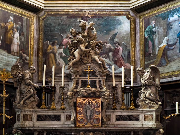 Interior View of the Altar in the Church of Notre Dame in Bordeaux photo