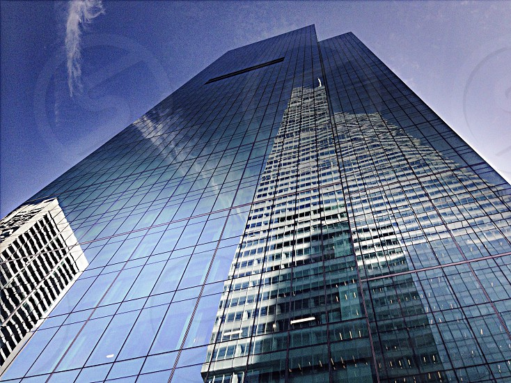 glass walled high rise building photo