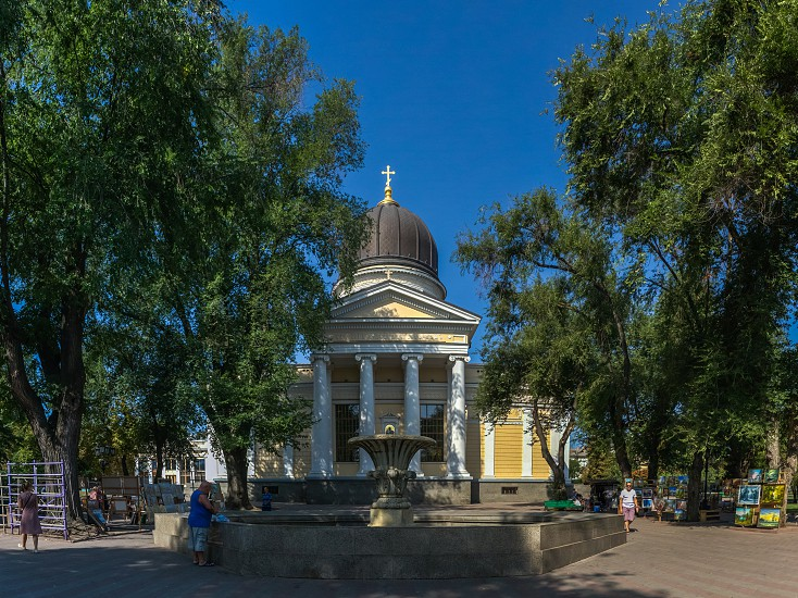 Odessa Ukraine - 08.30.2018. Odessa Orthodox Cathedral of the Saviors Transfiguration in Ukraine Europe photo