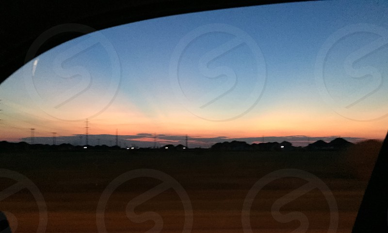 Great Sunrise while driving.  photo