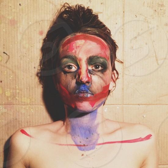 human body paint photo