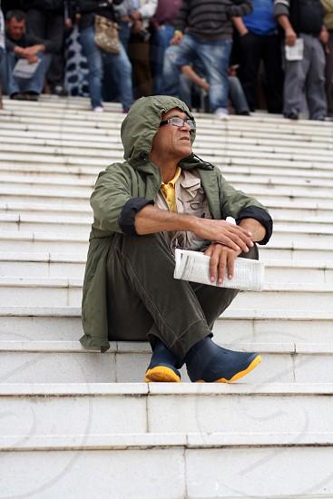 Man watching the game photo