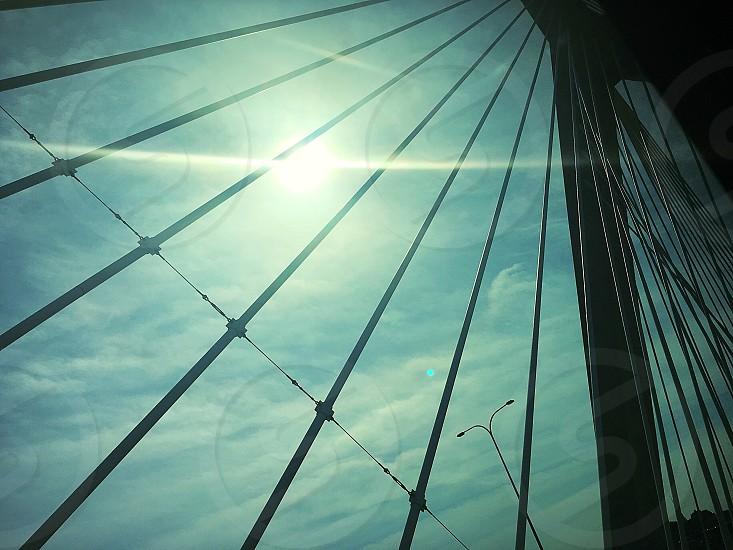 Bridge artsy sky photo