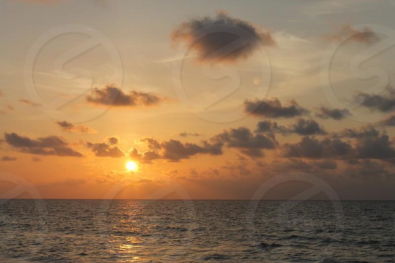 Mexico sunrise ocean sun sea beautiful golden photo
