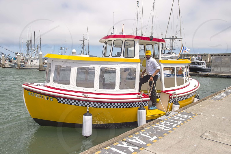Yellow water taxi photo