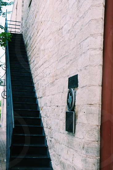 Texas stairs staircases classic stone stonewall simple. photo