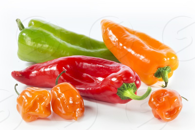 Red Yellow & Green Peppers photo