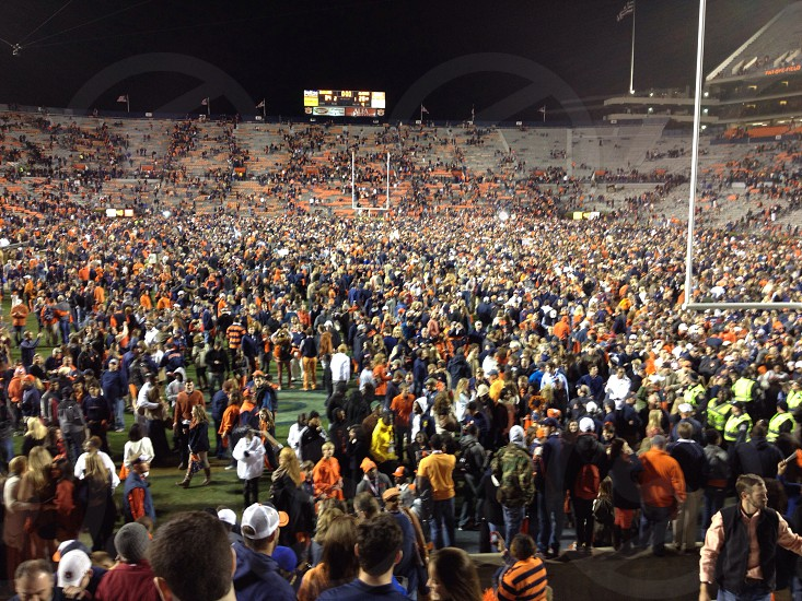 Storming the field after Auburn beat Alabama photo