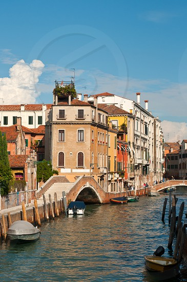 unusual pittoresque view of Venice Italy most touristic place in the world photo