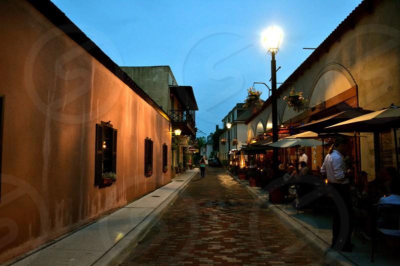 Avillies Street in St. Augustine Florida photo