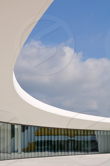Modern architecture of Oscar Niemeyer in Avilés photo