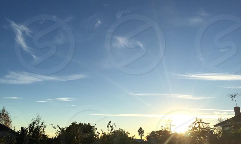 Sunset in Claremont California photo