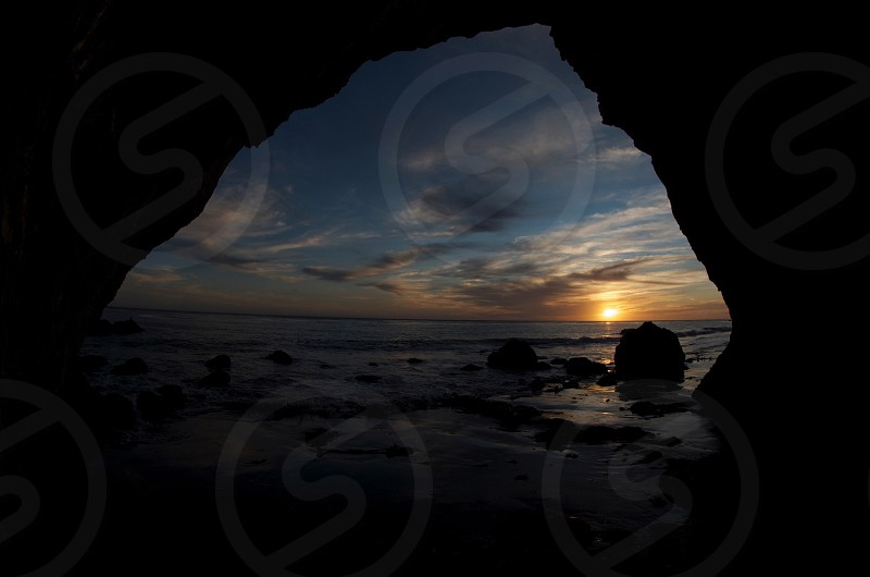 Take in a romantic sunset from Malibu California. photo