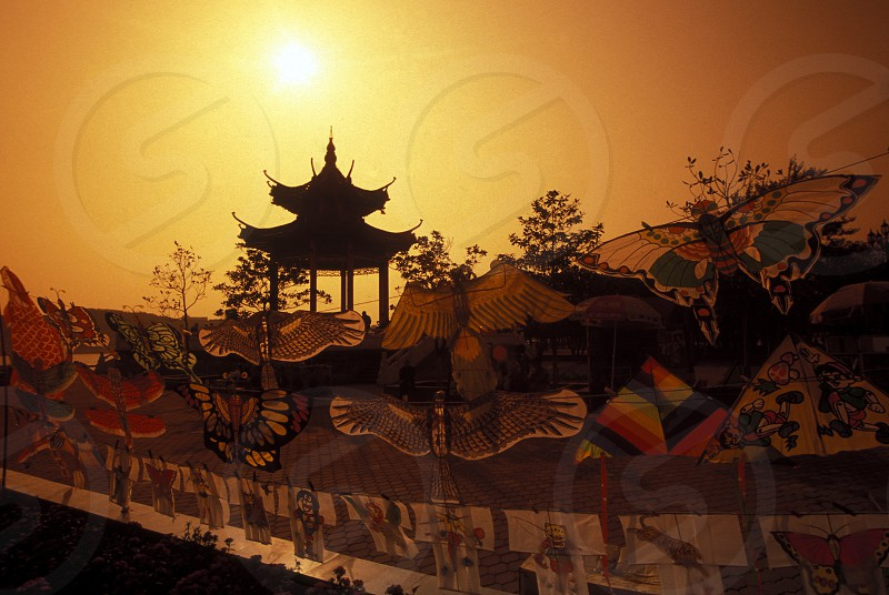 a temple in the city of yichang near the three gorges dam project in the province of hubei in china. photo