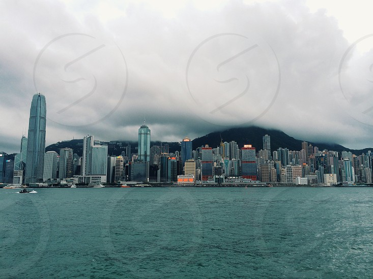 West Kowloon Promenade Hong Kong. Great view of the city scape! G3 filter. photo