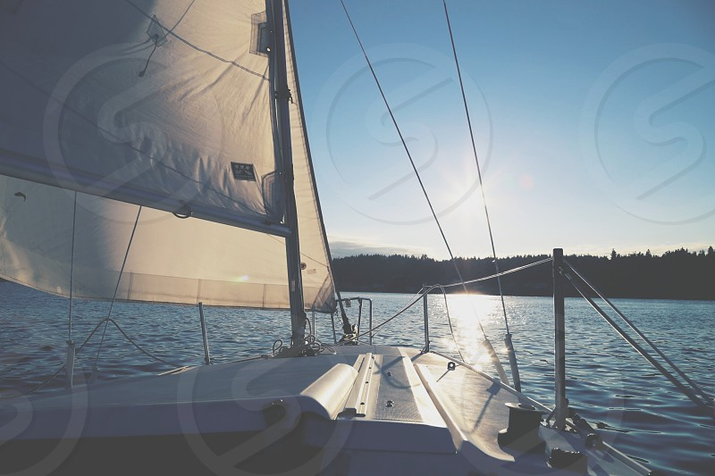 Full sails in the Puget Sound. photo