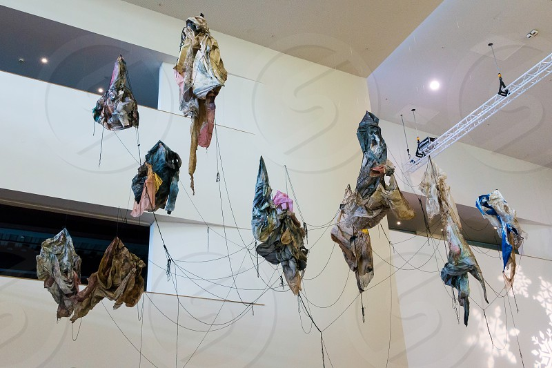 Contemporary art in the Millennium Centre in Cardiff photo