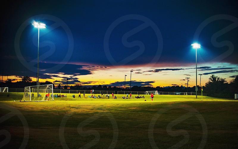 Soccer Friday night lights high school sports  photo