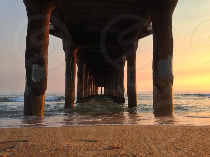 underside of a dock photo