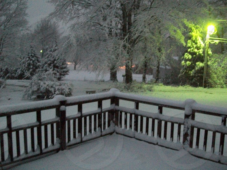 It snows in the South photo