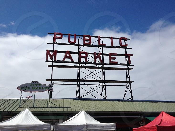 public market sign photo
