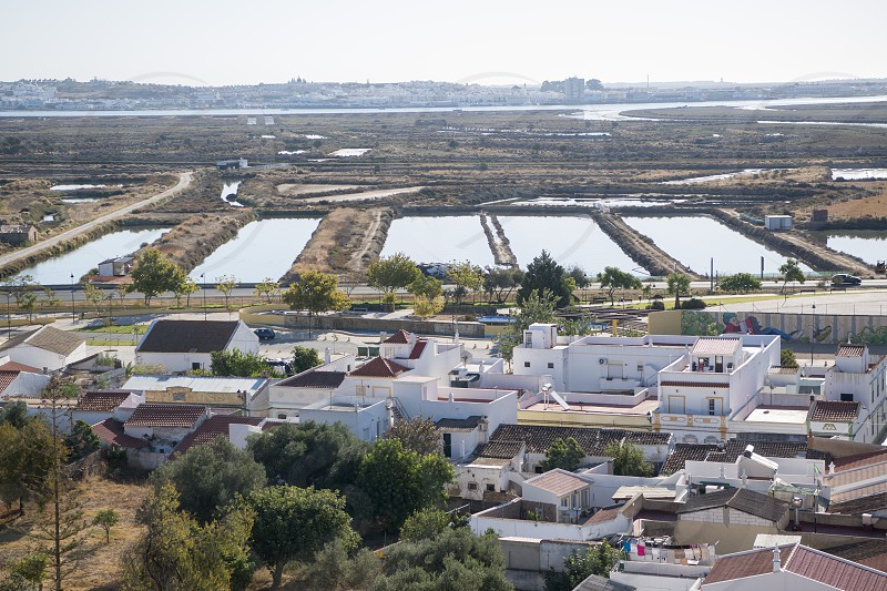 the Flor de Sal at the town of Castro Marim at the east Algarve in the south of Portugal in Europe. photo