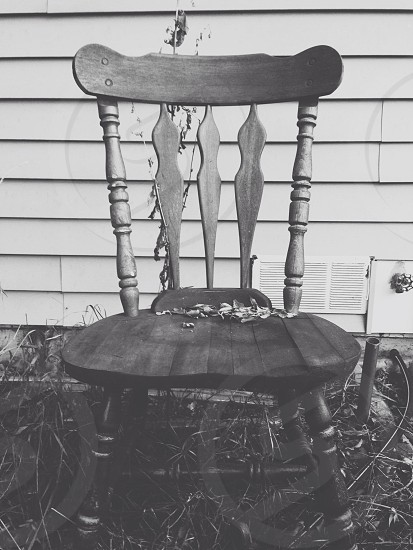 Decay black and white chair vintage photo