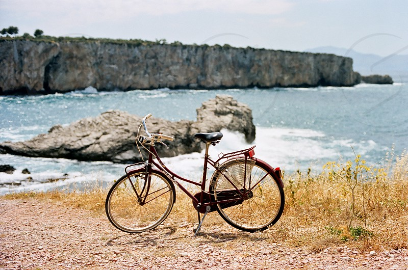 bicycle by the sea photo