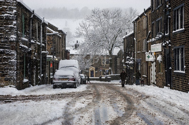 Uppermill Village Lancashire. photo