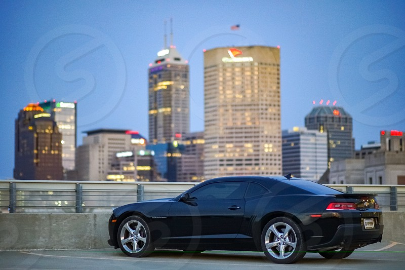 A skyline photo from one evening in Indianapolis Indiana. photo