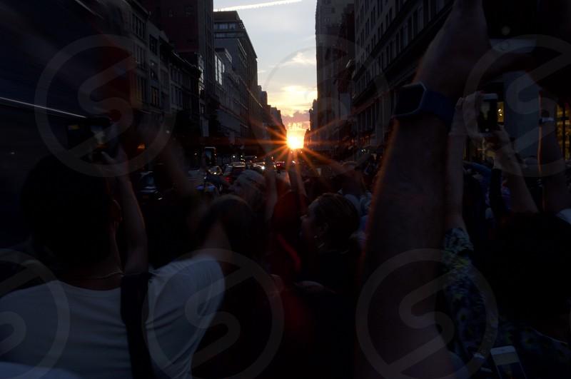 Sun Flare Manhattanhenge          photo
