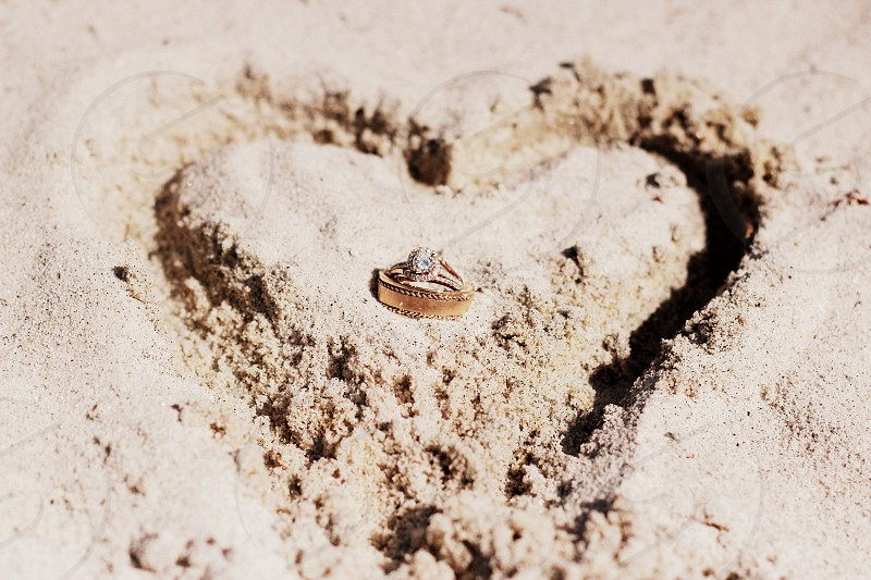 Heart in the sand. photo
