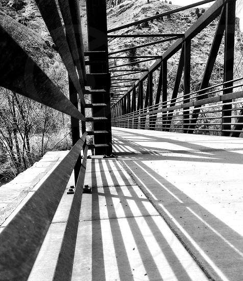 view of gray flooring bridge photo