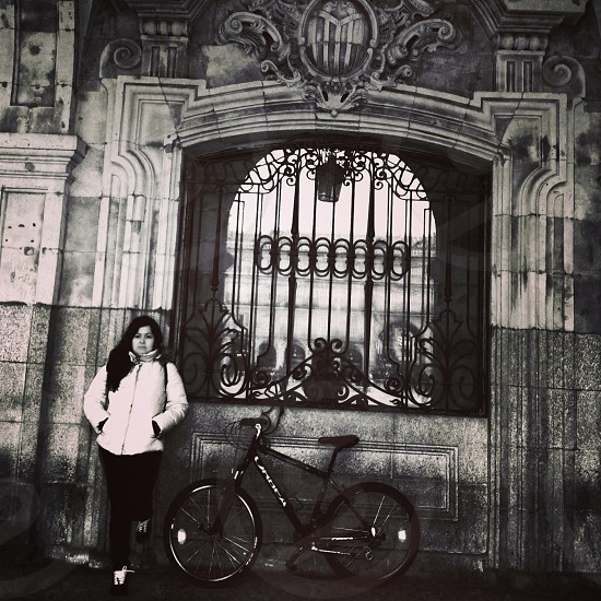 Thinking Woman Salamanca - Spain #Bycicle photo