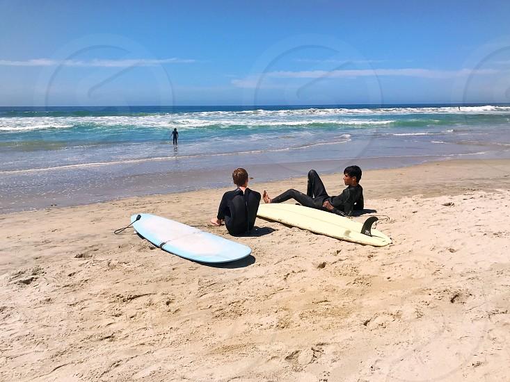 California surfers enjoying the day. photo