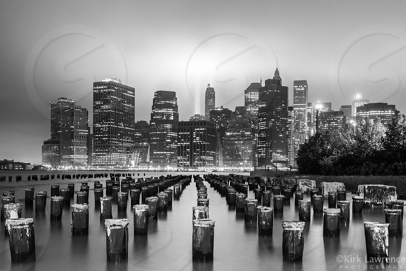 Tribute in Light Memorial 9/11 NYC. photo