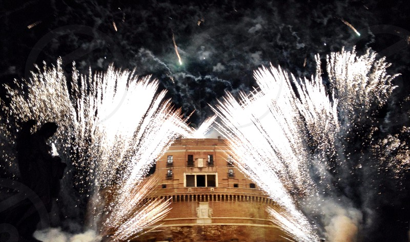 Fireworks in Rome photo