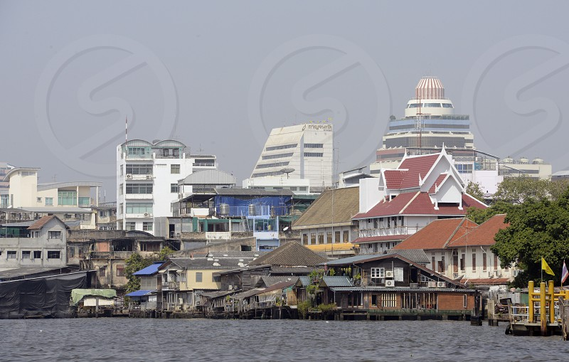 the Mae Nam Chao Phraya River in the city of Bangkok in Thailand in Southeastasia. photo