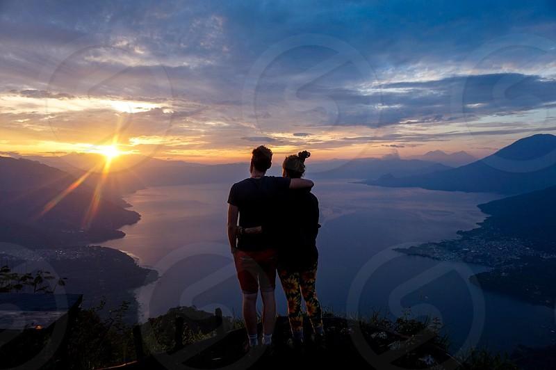 Guatemala Central America lake atitlan lake atitlan sun rise sun set friendship love hiking travel life inspiration beauty landscape light  photo