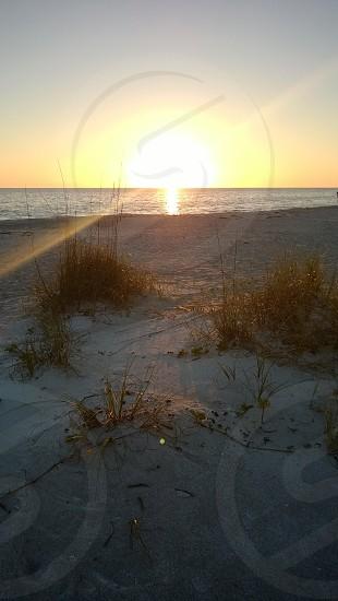 Gulf of Mexico beach sunset in Longboat Key Florida photo