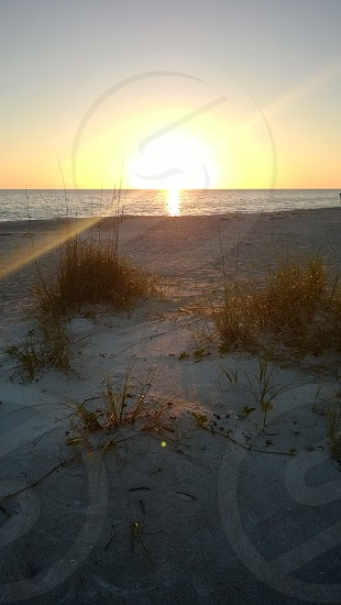 Gulf of Mexico beach sunset in Longboat Key Florida photo