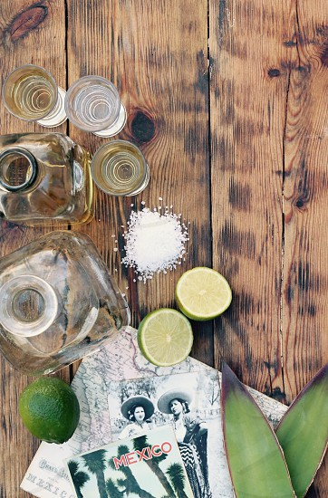 Gold  and Silver Tequila with Lime and Salt photo