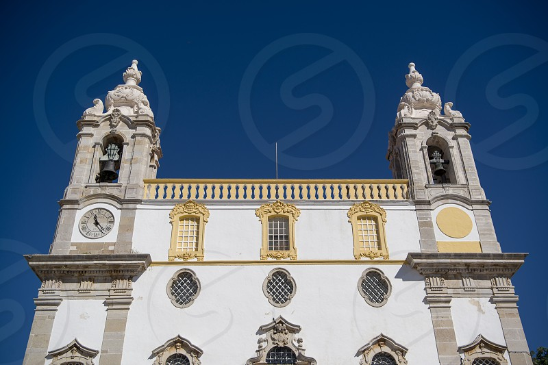 the Igreja do Carmo in the old town of Faro at the east Algarve in the south of Portugal in Europe. photo