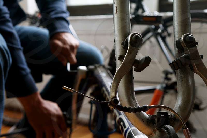 grey and brown bicycle photo