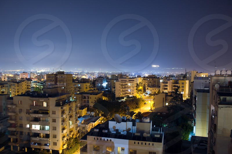 Nicosia at night photo
