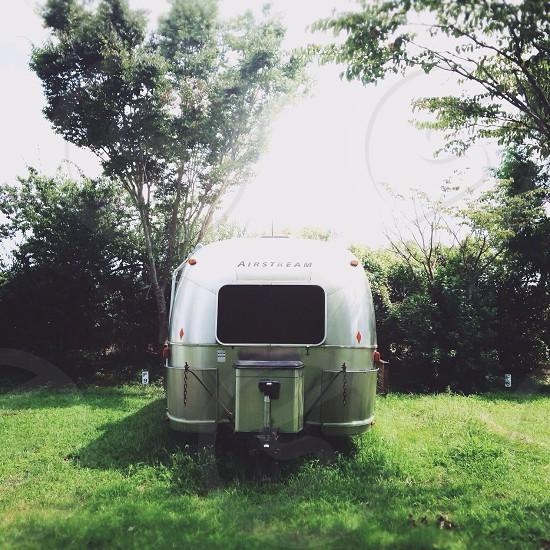 airstream white trailer photo