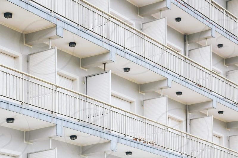 Full frame of a building facade. photo