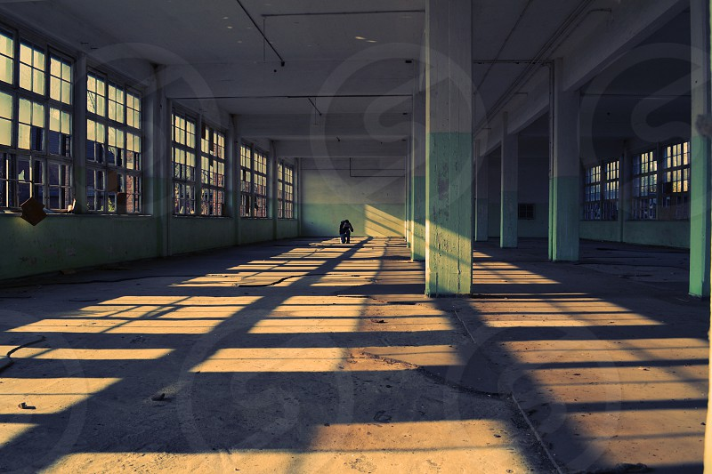 Shadow Lines Windows Abandoned Clothes Factory Bernau photo
